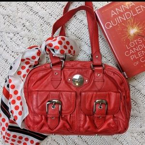 Junior Drake Red Leather Purse